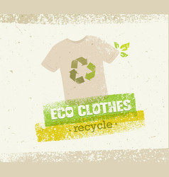 Eco green clothes recycle concept on vector