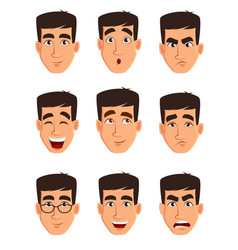 face expressions of a business man different male vector image