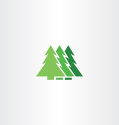 green christmas tree icon symbol sign element vector image vector image