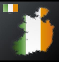 Ireland map vector image vector image