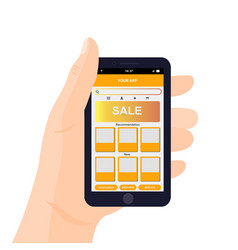 Mobile app interface design vector