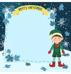 Notes christmas elf boy with jumpsuit vector