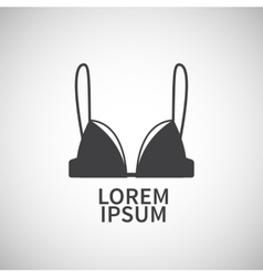 Nursing bra icon design element vector image
