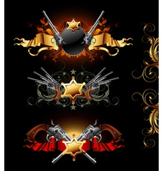 ornamental golden frames vector image vector image