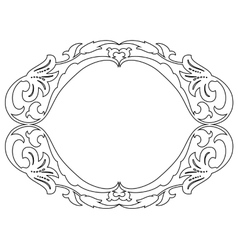 oval baroque ornamental decorative frame vector image