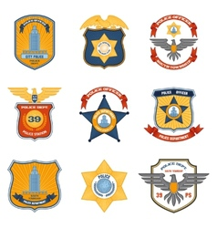 Police badges colored vector
