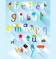 poster design for english alphabets vector image