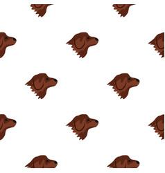 Retriever dog pattern seamless vector