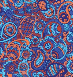 Seamless pattern with Indian ornament vector image