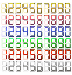 set of digital numbers vector image