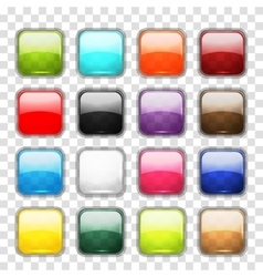 Set of glossy button icons for your design vector image vector image