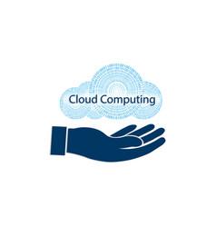 Sign computer cloud vector