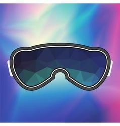 Ski goggle colorful glasses vector