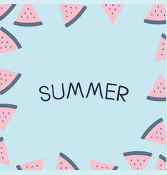 Summer holiday vacation flat design vector