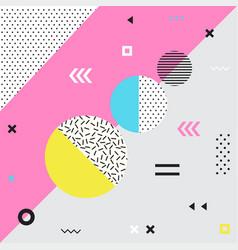 Trendy geometric elements memphis cards vector