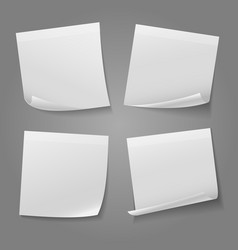 white blank square memo paper sticker stock vector image