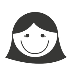 woman head isolated icon vector image