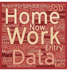 Work from home data entry jobs text background vector