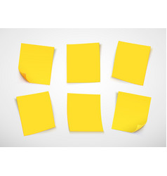 yellow paper notes post it note vector image vector image
