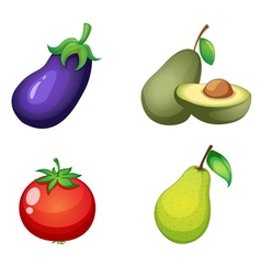 Fruits and vegitable vector image