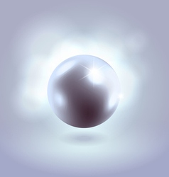 Blue glowing gorgeous pearl ball vector