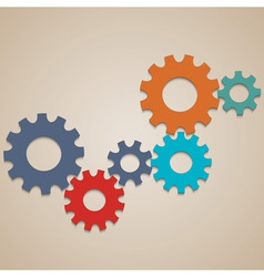 Colored abstract gear wheels vector