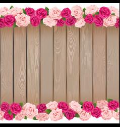 Seamless Flower Frame vector image
