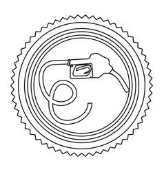 Circular frame contour with bio fuel hose vector
