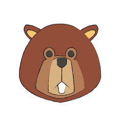 Beaver cartoon icon vector
