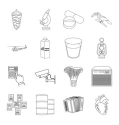 Aorta army art and other web icon in outline vector
