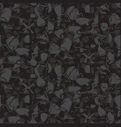 Marbled rock seamless dark gray pattern vector