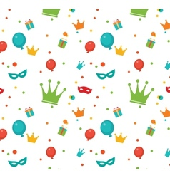 Jewish holiday purim pattern vector