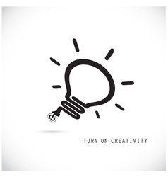 Turn on creative light bulb concept vector