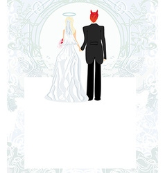 Funny wedding invitation vector