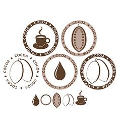 Cocoa Set vector image