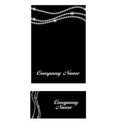 Abstract luxury black diamond business card vector