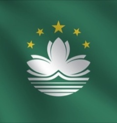 Macau flag vector