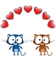 cat valentine lovers vector image