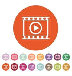 The video icon Play and player movie cinema vector image