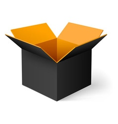Opened box vector