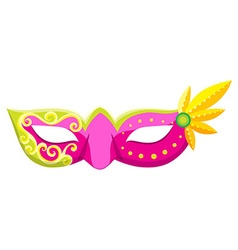 Party mask in pink color vector