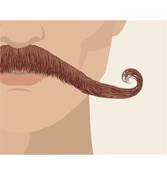 Mustache man vector