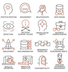 Set of icons related to business management - 26 vector