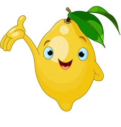 Cartoon lemon character vector