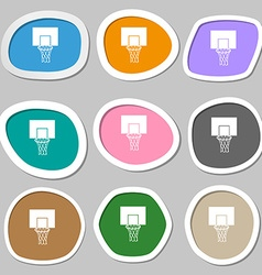 Basketball backboard symbols multicolored paper vector