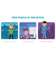 Sick people in the office vector