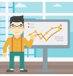 Businessman making business presentation vector
