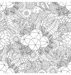 Amla doodle seamless pattern vector