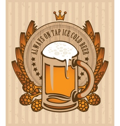 Beer barrel 001 vector