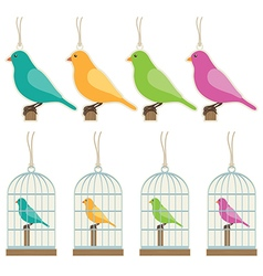 Bird gift tags vector